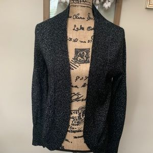 Metallic threaded Black cardigan